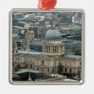 Stunning! St Paul's Cathedral London Silver-Colored Square Decoration