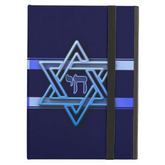 Stunning Star of David and chai on deep blue Case For iPad Air