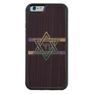 Stunning Star of David and chai on deep blue Cherry iPhone 6 Bumper