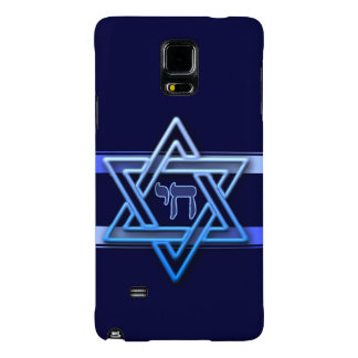 Stunning Star of David and chai on deep blue Galaxy Note 4 Case