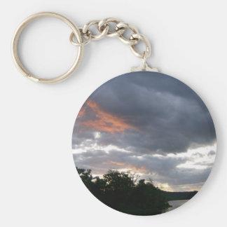 Stunning Sunrise Along Ohio River Basic Round Button Key Ring