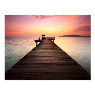 Stunning sunset postcard