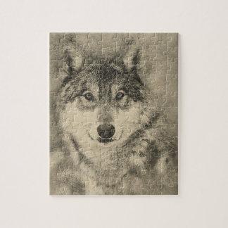 Stunning Timber Wolf Jigsaw Puzzle