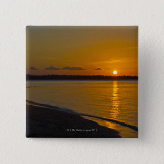 Stunning Tropical Sunset 15 Cm Square Badge