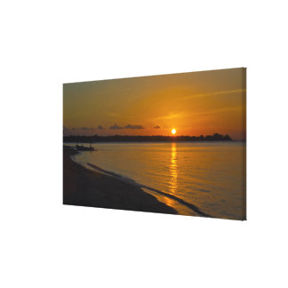 Stunning Tropical Sunset Canvas Print