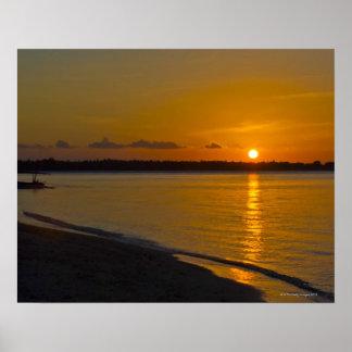 Stunning Tropical Sunset Poster