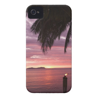 Stunning tropical sunset shinging through iPhone 4 Case-Mate case