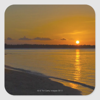 Stunning Tropical Sunset Square Sticker