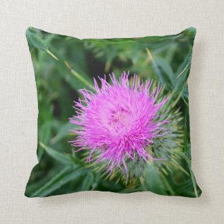 Stunning vibrant thistle cushion. cushion