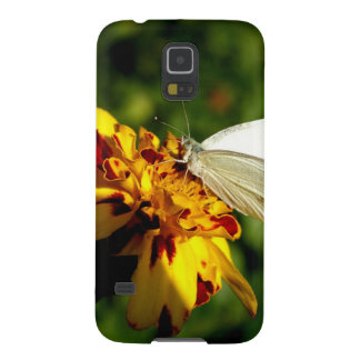 Stunning White Butterfly on Yellow & Red Flower Cases For Galaxy S5