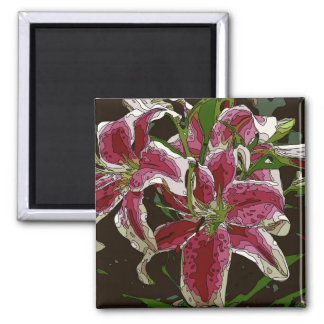 Stunning White Lily Flowers Magnet