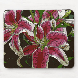 Stunning White Lily Flowers Mousepad