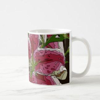 Stunning White Lily Flowers Basic White Mug
