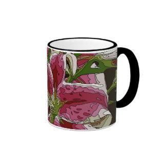 Stunning White Lily Flowers Ringer Mug