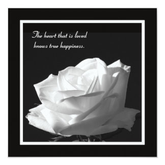 Stunning White Rose Vow Renewal Card