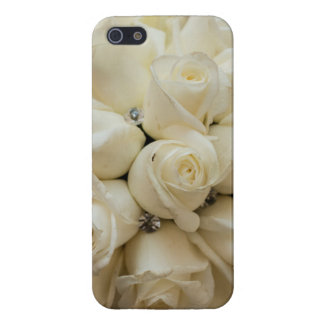 Stunning White Rose Wedding Bouquet Case For iPhone 5/5S