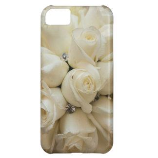 Stunning White Rose Wedding Bouquet iPhone 5C Case