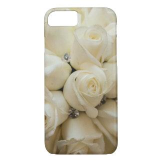 Stunning White Rose Wedding Bouquet iPhone 7 Case