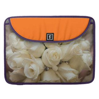 Stunning White Rose Wedding Bouquet Sleeve For MacBooks