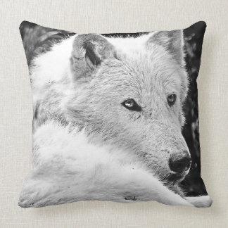 Stunning White Wolf Cushion
