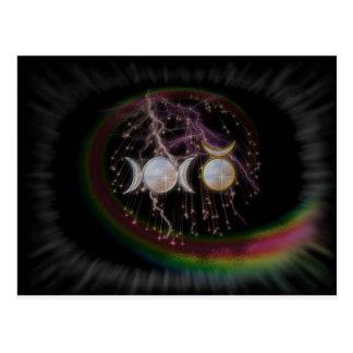 Stunning Wiccan Triple Goddess Cosmic Postcard
