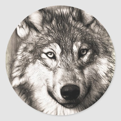 Stunning wolf face photo print accessories therian stickers
