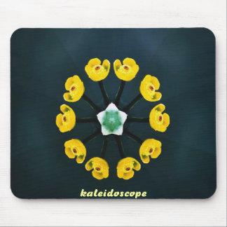 stunning yellow petal kaleidoscope mousepad