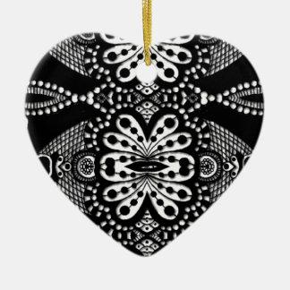Stunning zen doodle trible art. Fab gift! Ceramic Heart Decoration