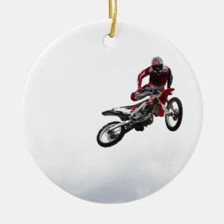 Stunt Bike Round Ceramic Decoration