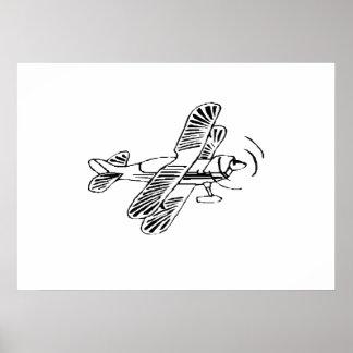 Stunt Biplane Posters