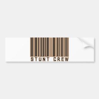 Stunt Crew Barcode Bumper Sticker