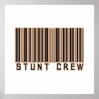Stunt Crew Barcode Print