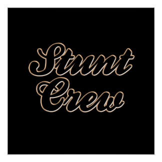 Stunt Crew Baseball Print