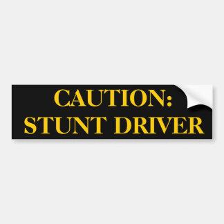 Stunt Driver Sticker Bumper Stickers