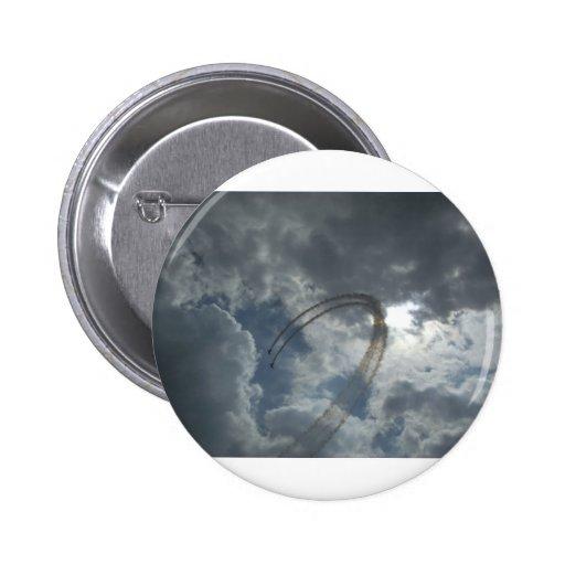 Stunt Flying Demonstration Pinback Buttons