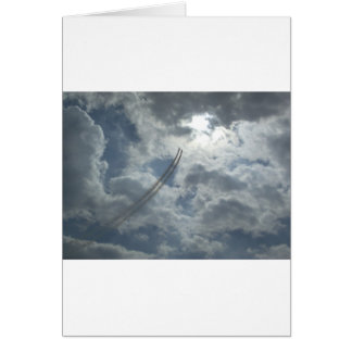 Stunt Flying Demonstration Greeting Card