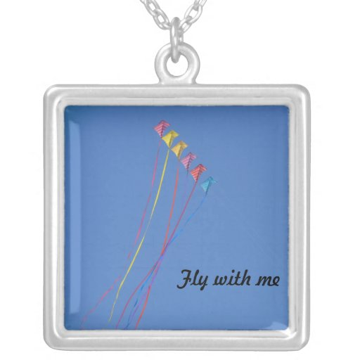 Stunt Kite Flying in the Sky Personalized Necklace