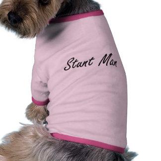 Stunt Man Artistic Job Design Ringer Dog Shirt