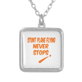 Stunt Plane Flying Never Stops Pendant