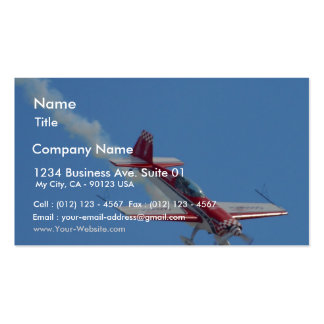 Stunt Plane Pack Of Standard Business Cards