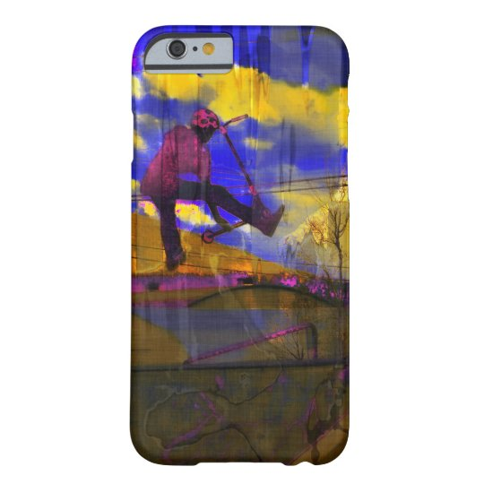 Stunt-Scooter Fine Art Sports Design Barely There iPhone