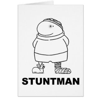 Stuntman Greeting Card