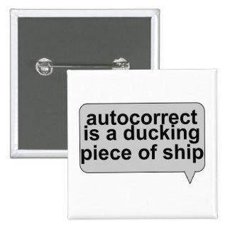 Stupid Autocorrect Sucks Pinback Buttons