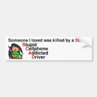 Stupid Cellphone Addicted Driver Bumper Sticker