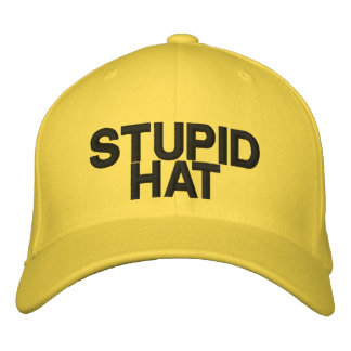 Stupid Hat Embroidered Baseball Caps
