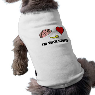 Stupid Heart Sleeveless Dog Shirt