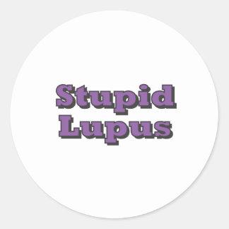Stupid Lupus Round Sticker