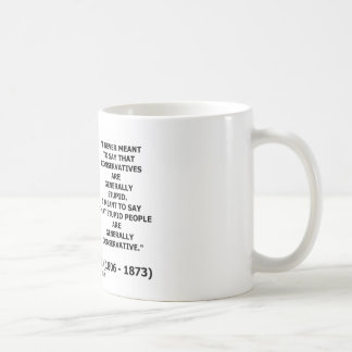 Stupid People Are Generally Conservative Quote Mugs