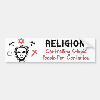 Stupid People Control Bumper Sticker