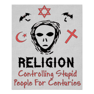 Stupid People Control Poster
